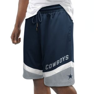 Men's Dallas Cowboys G-III Sports by Carl Banks Navy Forward Momentum Shorts