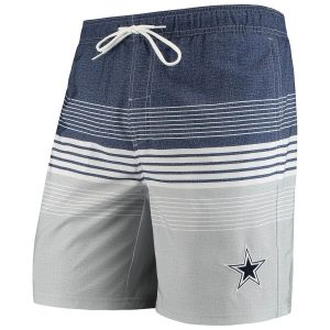 Men's Dallas Cowboys G-III Sports by Carl Banks Navy Warm Up Volley Swim Trunks