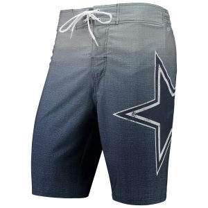 Men's Dallas Cowboys G-III Sports by Carl Banks Navy Wild Card Swim Trunks