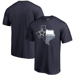 Men's Dallas Cowboys Navy Lone Star Hometown Collection T-Shirt