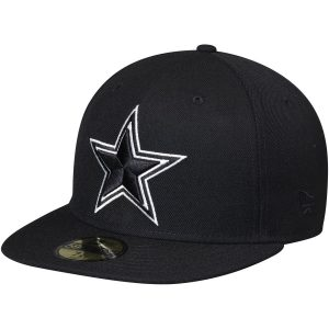 Men's Dallas Cowboys New Era Black Omaha II 59FIFTY Fitted Hat