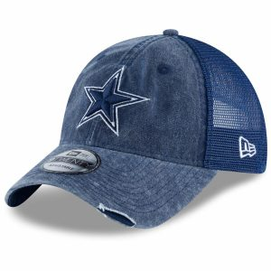 Men's Dallas Cowboys New Era Navy Tonal Washed Trucker 9TWENTY Adjustable Hat
