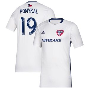 Men's FC Dallas Paxton Pomykal adidas White 2019 Secondary Replica Player Jersey