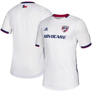 Men's FC Dallas adidas White 2019 Secondary Authentic Jersey