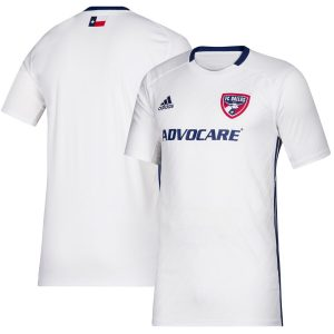 Men's FC Dallas adidas White 2019 Secondary Replica Jersey