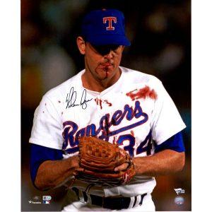 Nolan Ryan Texas Rangers Fanatics Authentic Autographed 16″ x 20″ Bloody Lip Photograph