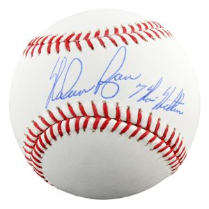 "Nolan Ryan Texas Rangers Autographed Baseball with ""7 No-Hitters"" Inscription"