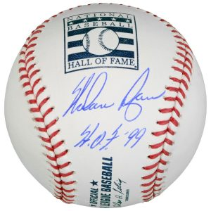 "Nolan Ryan Texas Rangers Autographed Hall of Fame Logo Baseball ""HOF 99"" Inscription"