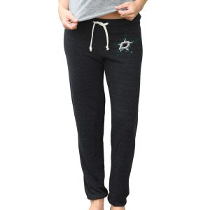 Original Retro Brand Dallas Stars Women's Black Quadblend Lounge Pants