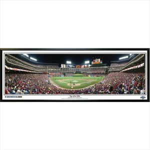 Texas Rangers 39″ x 13.5″ Top of the Fifth Standard Black Framed Panoramic