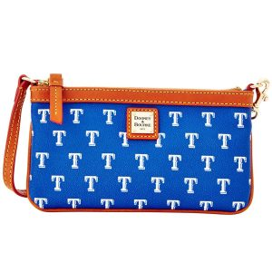Texas Rangers Dooney & Bourke Women's Team Color Large Slim Wristlet