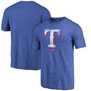 Texas Rangers Fanatics Branded Team Tri-Blend T-Shirt – Royal