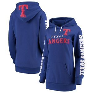 Texas Rangers G-III 4Her by Carl Banks Women's Extra Innings Pullover Hoodie