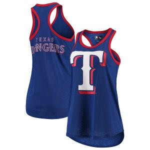 Texas Rangers G-III 4Her by Carl Banks Women's Team Logo Tater Racerback Tank Top