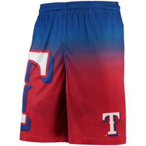 Texas Rangers Gradient Big Logo Training Shorts – Red/Royal