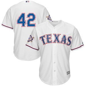 Texas Rangers Majestic 2019 Jackie Robinson Day Official Cool Base Jersey