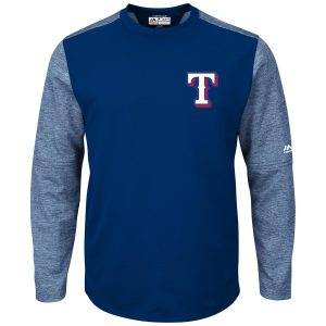 Texas Rangers Majestic Authentic Collection On-Field Tech Fleece Pullover Sweatshirt