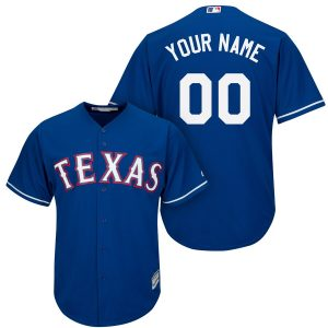 Texas Rangers Majestic Cool Base Custom Jersey