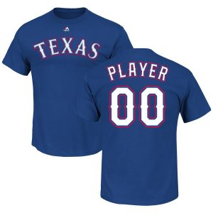 Texas Rangers Majestic Custom Roster Name & Number T-Shirt – Royal