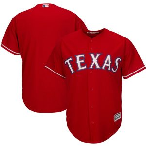 Texas Rangers Majestic Official Cool Base Jersey – Red