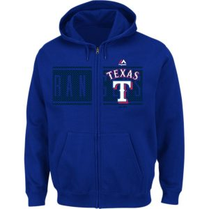 Texas Rangers Majestic Piercing Attack Full-Zip Hoodie – Royal