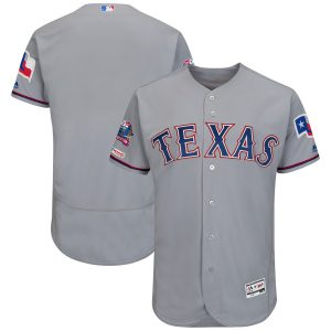 Texas Rangers Majestic Road Final Season Stadium Patch Authentic Collection Flex Base Team Jersey