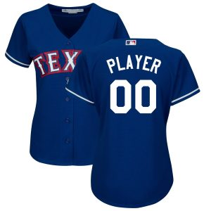 Texas Rangers Majestic Women's Alternate Cool Base Custom Jersey