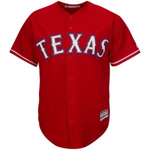 Texas Rangers Majestic Youth Official Cool Base Jersey