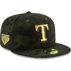 Texas Rangers New Era 2019 MLB Armed Forces Day On-Field 59FIFTY Fitted Hat