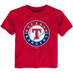 Texas Rangers Toddler Team Primary Logo T-Shirt – Red