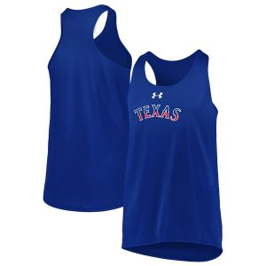 Texas Rangers Under Armour Girls Youth Big Time Fan Tank Top – Royal