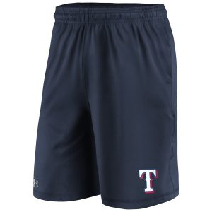 Texas Rangers Under Armour Raid Left Leg Performance Shorts – Navy