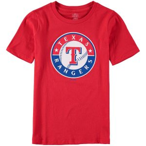 Texas Rangers Youth Primary Logo T-Shirt – Red