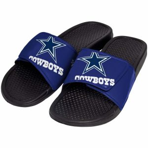Youth Dallas Cowboys Cropped Big Logo Slide Flip Flops