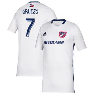 Youth FC Dallas Carlos Gruezo adidas White 2019 Secondary Replica Player Jersey