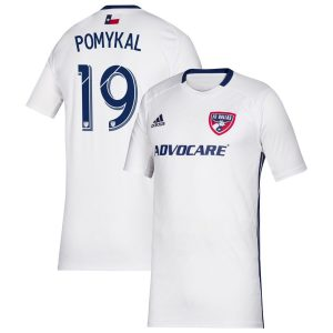 Youth FC Dallas Paxton Pomykal adidas White 2019 Secondary Replica Player Jersey