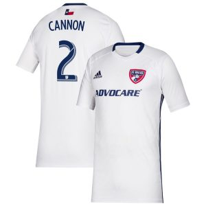 Youth FC Dallas Reggie Cannon adidas White 2019 Secondary Replica Player Jersey