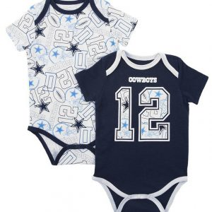 Authentic NFL Apparel Dallas Cowboys Bubs Creeper Set, Infants (0-9 Months)