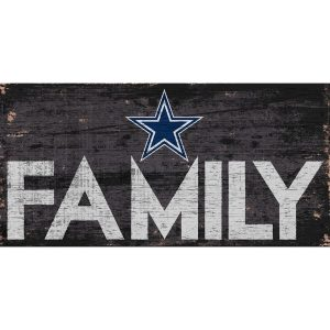 "Dallas Cowboys 6"" x 12"" Family Sign"