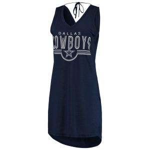 Dallas Cowboys G-III 4Her by Carl Banks Women's Synergy Swimsuit Cover-Up – Navy