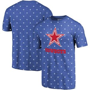 Dallas Cowboys NFL Pro Line by Fanatics Branded Star Spangled T-Shirt – Royal