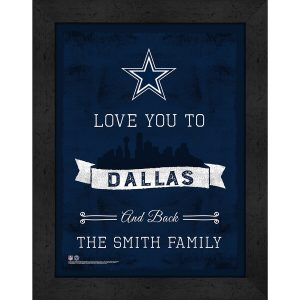 Dallas Cowboys Personalized Love to and Back Frame