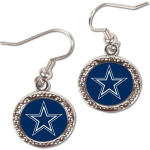 WinCraft Dallas Cowboys Women's Round Dangle Earrings