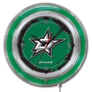 "Dallas Stars 15"" Neon Clock"