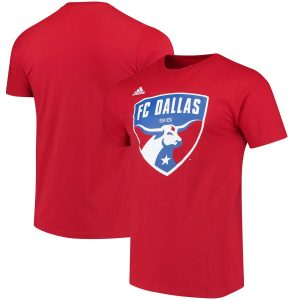 FC Dallas adidas Logo Set T-Shirt – Red