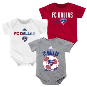 FC Dallas adidas Newborn & Infant 3-Pack Bodysuit Set