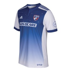Men's FC Dallas Adidas Blue 2017/18 Secondary Authentic Jersey