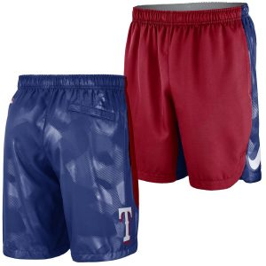 Texas Rangers Nike Authentic Collection Team Logo Performance Shorts – Red