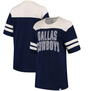 Dallas Cowboys True Classics Throwback Slub T-Shirt – Navy/Cream